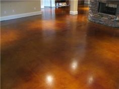 Concrete Stained Floors throughout!