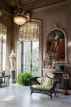 The Elms in Newport, Rhode Island -- Yankee Magazine Modern Victorian Decor, Victorian Interiors, Victorian House, Luxury Homes Interior, Interior Design, Stylish Interior, Classic Interior, Grand Homes, Cottage Design