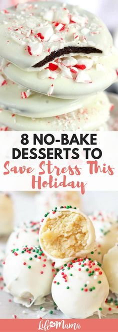 If you're looking for one less way to stay away from the hot oven, check out these festive no-bake desserts to keep things stress-free this holiday. #nobake #nobakedesserts #holidaydesserts