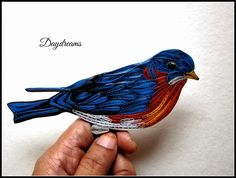 DAYDREAMS: Quilled Blue bird