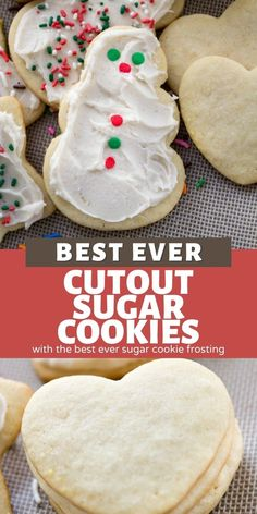 These are the BEST Cut Out Sugar Cookies we've been making for years. Easy soft cut out sugar cookies that hold they're shape and topped with sugar cookie icing that's like a buttercream – it's easy and fast.