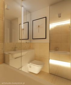 small bathroom in travertine | artstudio