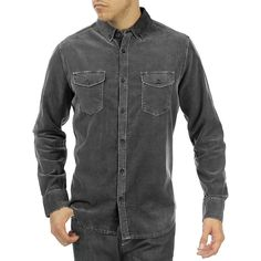 Jeremiah Men's Jaymes Pigment Corduroy Shirt Denim Button Up, Button Up Shirts, Chambray, Corduroy, Long Sleeve Shirts, Door County, Cotton, Outfits, Collection