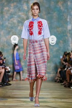 Look 2- Tory Burch Ready To Wear Spring Summer 2016 New York - NOWFASHION