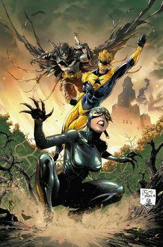 Catwoman Cosplay, Batman Und Catwoman, Gotham, Arte Dc Comics, Comic Kunst, Dc Comics Characters, Comics Girls, Comic Artist, Marvel Heroes