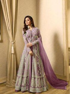 Looking to buy Anarkali online? ✓ Buy the latest designer Anarkali suits at Lashkaraa, with a variety of long Anarkali suits, party wear & Anarkali dresses! Eid Dresses, Pakistani Dresses, Indian Dresses, Indian Outfits, Salwar Dress, Anarkali Gown, Anarkali Suits, Long Anarkali, Salwar Kameez