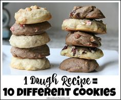 One Dough Recipe = 10 Different Cookies! Christmas cookie baking has never been so simple!
