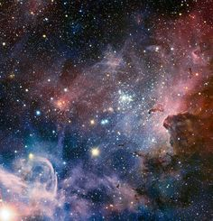 This broad panorama of the Carina Nebula, a region of massive star formation in the southern skies, was taken in infrared light using the HAWK-I