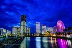Yokohama 5PM - Pinned by Mak Khalaf City and Architecture LandmarkLightsNightscapeSkyscraper by h2o-photo