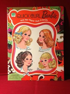 Quick Curl Barbie and Her Paper Doll Friends Book - Whitman 1973~~