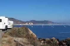 RV camping in Port San Luis Harbor, CA