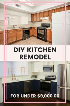 How much does it cost to remodel a kitchen? See how you can get a designer kitchen with this DIY kitchen remodel breakdown! Rustic Kitchen, Kitchen Decor, Kitchen Design, Kitchen Ideas, Kitchen Tips, Diy Kitchen Remodel, Kitchen Upgrades, Upcycled Home Decor, Diy Home Decor