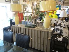 Dainty vanity chair and antique accents at Mecox Houston ...