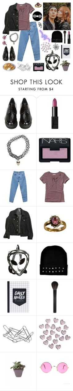 """The poison apple to my bite"" by brok3n-hearts ❤ liked on Polyvore featuring Stuart Weitzman, NARS Cosmetics, Hot Topic, Pull&Bear, Hollister Co., American Apparel, O-Mighty, Giorgio Armani, Home Decorators Collection and Crate and Barrel"