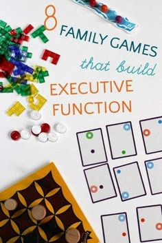 Family games for executive function skill building. Putting the FUN back into Executive Functioning! Therapy Games, Therapy Activities, Learning Activities, Kids Learning, Activities For Kids, Play Therapy, Speech Therapy, Occupational Therapy, Visual Perceptual Activities