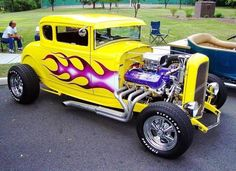 PICTURES OF VINTAGE FORD COUPES   1931 MODEL - FORD COUPE 502 525HP YELLOW PURPLE BRIGHT MA   Car ...