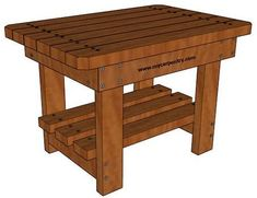 Free Picnic Table Plans - These picnic table plans are completely free outdoor furniture plans and a great addition to your wood outdoor furniture. Outdoor End Tables, Diy End Tables, Patio Side Table, Wood End Tables, Wood Table, Deck Table, Side Tables, Outdoor Ideas, Woodworking In An Apartment