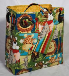 Baby Zoo Grommet Bag by carriedawaywithjill on Etsy