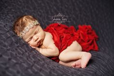 Ruffle Stretch Knit Baby Wrap in Red | Beautiful Photo Props