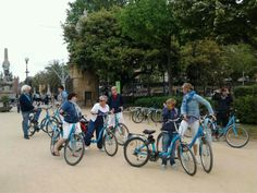 Bycicling in Barcelona, Spain