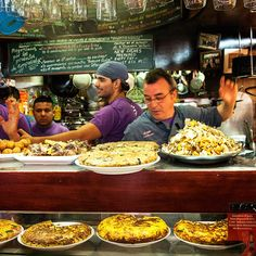 The bomba is to Barcelona tapas bars what a bagel is to New York delis. And the best place to get this deep-fried, meat-filled potato ball is at the tiny, no-frills La Cova Fumada. Go for lunch and squeeze in beside the salty old men.