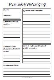 Hoe bereid jij je er op voor dat er een vervanger bij je in de groep komt? Dit kopieerblad van LessenvanLisa.nl is erg handig!