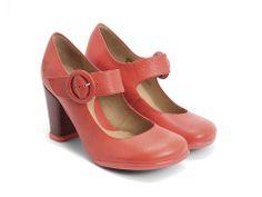 Red Box Leather Shoes Sanita No Heel