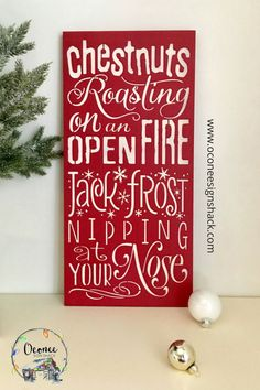Looking for the perfect complement to your Christmas room decor? You've found it in this unique, hand-painted The Christmas song wood sign! It also makes a great gift for a Christmas music lover. Click the pin to get one of these eye-catching signs today! Christmas Qoutes, Christmas Room, Christmas Makes, Christmas Music, Christmas Signs, Country Christmas, Christmas Projects, Xmas, Christmas Gift Decorations