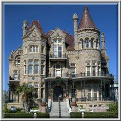 Towers of Gresham Residence ~ Bishop's Palace, Galveston, TX (USA)