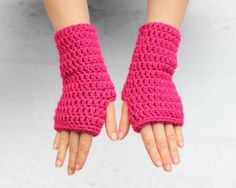 """These crochet fingerless gloves are so simple you can easily make a pair in less than an hour! Perfect for the Fall, Winter and chilly Spring days. They make a great gift as well! This crochet project is part of the """"Crochet Kit That Never Happened"""" which you can read all about HERE. Long story …"""
