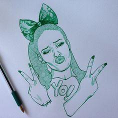 Azealia Banks quick sketch BIC