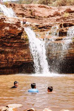 Toquerville Falls: One of Utah's Best Swimming Holes #simplywander #toquervillefalls #utah