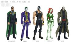 Here are some villain designs! I hardly ever draw villains, and now that I've done them, I don't know why I haven't. They're arguably more fun to draw, Batman: Gotham Crusaders - Villains Tim Drake Red Robin, Evil Villains, Young Justice, Vintage Comics, Marvel Dc Comics, Gotham City, Batgirl, Dc Universe, Rogues