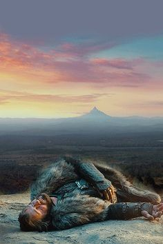 Thorin Oakenshield and the Lonely Mountain.  A sadly foreboding picture... <---- oh my goodness that's true.