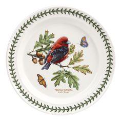 Portmeirion Botanic Garden Birds Dinner Plate, Scarlet Tanager