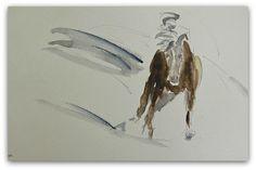 Horse painting Original Watercolour Running Wild by StudioHydeArt #original #watercolour #painting #etsy #devonetsty #equineart #horse