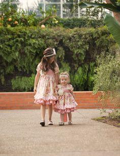 Girls easter dress, spring peasant dress, shabby chic dress, girls twirl dress. $86.00, via Etsy.