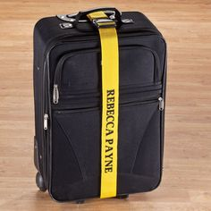 Personalized Yellow Luggage Strap - Zoom