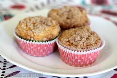 Apple Cinnamon Coffee Cake Muffins from Our Best Bites starts with #DuncanHines Classic Yellow Cake Mix