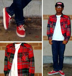 Flannels, snap backs, vans, and geek frames! Love it!