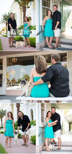 Love the pug in the engagement shoot.