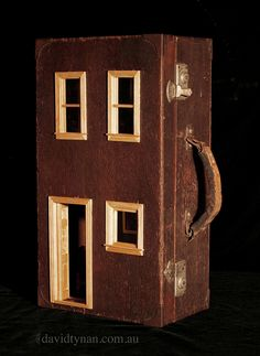 Suitcase Dollhouse - Victorian Style inside a timber engineer's box. www.suitcasedollhouse.com