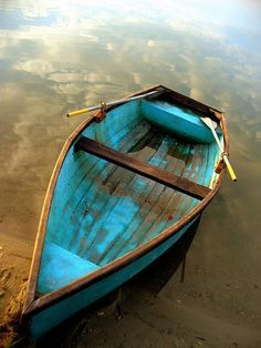 Nothing quite like a turquoise colored row boat.