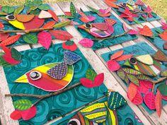 Arts And Crafts Ideas For Toddlers Product Classroom Art Projects, Art Classroom, Art 2nd Grade, Classe D'art, Spring Art Projects, Atelier D Art, Cardboard Art, Kindergarten Art, Collaborative Art