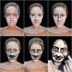 Makeup Hacks Online – Hair and beauty tips, tricks and tutorials Costume Halloween, Halloween Makeup Looks, Up Halloween, Sfx Makeup, Costume Makeup, Makeup Art, Makeup Ideas, Make Up Humor, Bald Cap