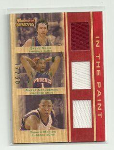 2007-08 Topps Trademark Moves Triple Relics jersey card #TTR-NSM  /50 RARE HOF! #PhoenixSuns