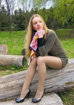 This Blonde Teen Pantyhose Cutie 69