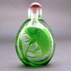 乾隆鼻煙壺 鯉(緑)2