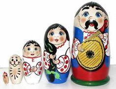 Nesting Matryoshka Dolls Ukraine 7 Set 5 Unique Ukrainian Dolls Stacking   eBay