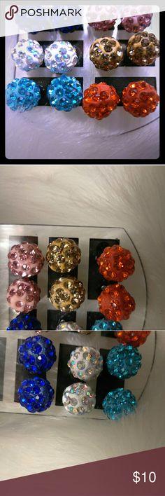 6 Pair Disco Ball Earrings 6 pair of Disco Ball Stud Earrings  Same Day Shipping/ Fun and Cute Jewelry Earrings